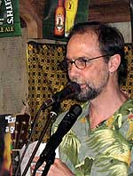 Charles de Lint reading at an Ottawa book-launch party