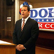 Matt Doheny campaigning in Canton during his 2010 run for Congress.