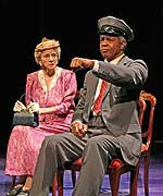 Elizabeth Franz and William Charles Mitchell in <i>Driving Miss Daisy</i>. Photo by Alex Ottaviano