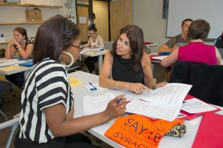 Say Yes to Education hosted a resume workshop for city teens this summer. Photo: Stephen Sartori/Say Yes to Education