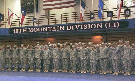 A homecoming ceremony at Fort Drum. NCPR file photo