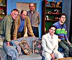 <i>Easter Monday</i> cast/crew. (l-r) Director Michael Montel, Bob Pettee (Mack), Playwright Hal Corley, Molly Pietz (Adela) and Jordan Glaski (Billy)