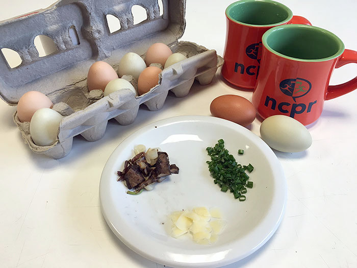 Coffee Mugs Eggs Herbs Cheese Breakfast Photo Martha Foley