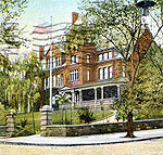 NY Executive Mansion in old postcard view