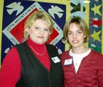 Ft. Drum Family Readiness Coordinators Rena Tumbleson and Kristen Fair.