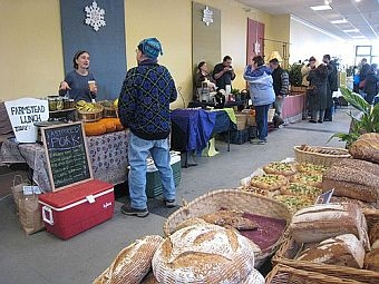Brattleboro's winter market [credit: Nancy Cohen]