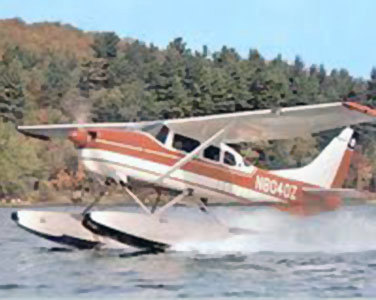 Maynard Baker's lawsuit sought access to remote ponds and lakes by planes like this one, of Helms flying service. Photo: by permission from Tom Helms