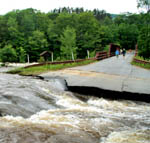 Flooding on the West Branch of the Sacandaga in the town of Wells, Hamilton County (Source:  Gabriel Oshen)