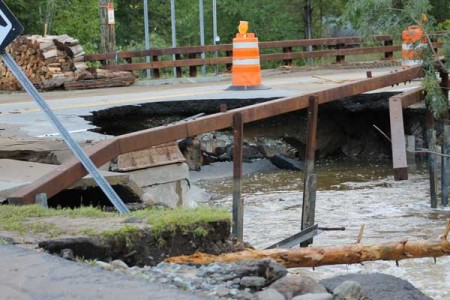 Emergency crews faced widespread damage to infrastructure (NCPR file photos)
