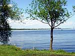 A view of the St. Lawrence River from the site of the former Fort la Presentation, on Light House Point in Ogdensburg