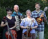 Frog Bridge is Gretchen Koehler (fiddle), Beth Robinson (cello), Matt Bullwinkel (piano & accordion), Bill Case (mandolin)