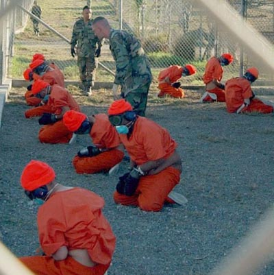 Photo of Guantanamo Bay prison facility (Source:  According to Wikipedia, this is a public domain photo taken by a government official at Guantanamo Bay)