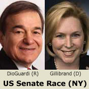 Joe Dioguardi pushes to make a race in New York's Senate contest, but Kirsten Gillibrand still holds commanding advantages