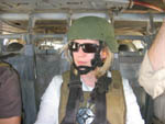 Rep. Kirsten Gillibrand, Democrat, flying over Baghdad (Photo provided)