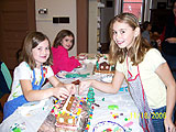 Canton youngsters build their gingerbreading skills at a recent workshop