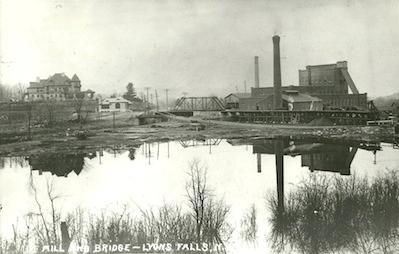 Archival photo of the Lyons Falls mill. Photo courtesy of the Lyons Falls History Association