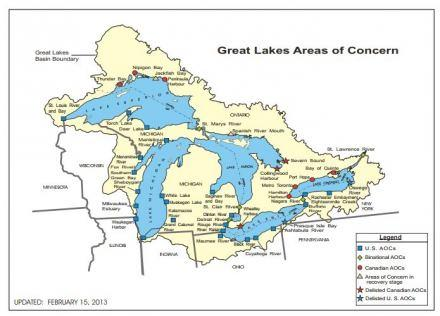 Great Lakes Areas Of Concern Graphic Us Epa