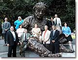2004-2005 Einstein Fellows at the Einstein statue in Potomac Park