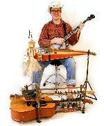 "Eric Royer and his ""Guitar Machine."""