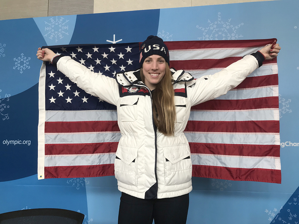 Erin Hamlin named Team USA flag bearer for PyeongChang Opening Cermony