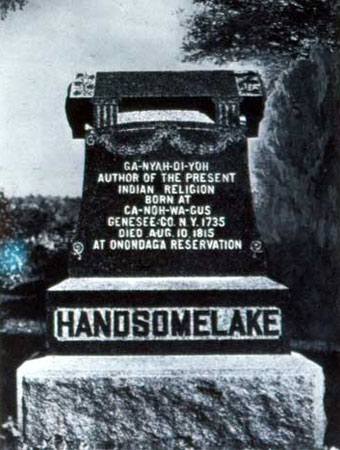 The Handsome Lake grave site at Onondaga