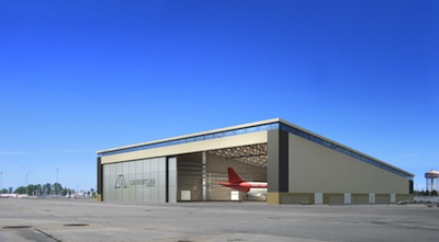 Artist's rendering of maintenance hangar (Source:  Laurentian Aerospace)