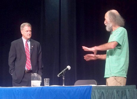 Democrat Bill Owens (at left) and Green Party candidate Donald Hassig. Photo: Brian Mann