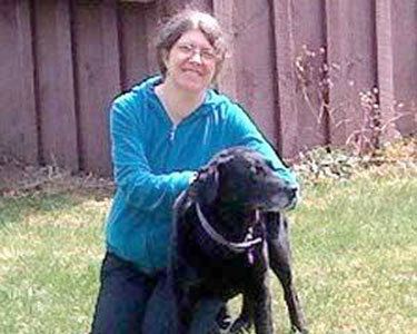 Hilary Oak and her dog, Venus.  Photo: St. Lawrence County Arts Council