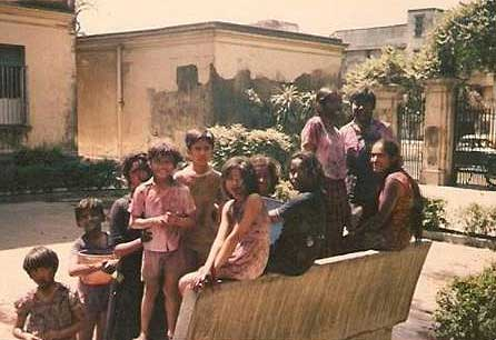 Holi, 1984.  Rajiv Narula and friends celebrate near his childhood home.