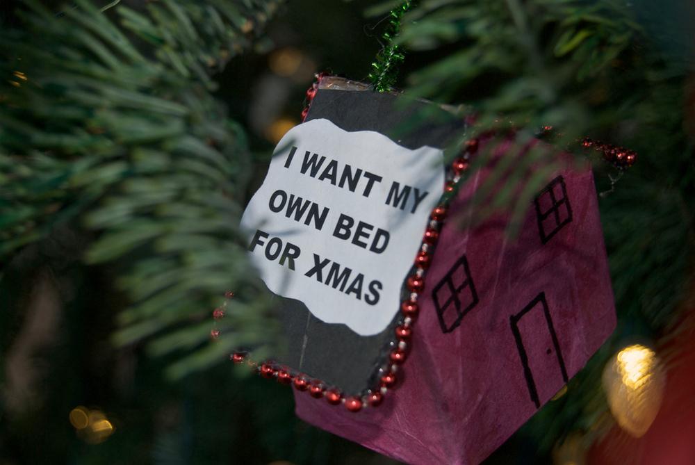 Homeless Christmas Tree