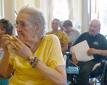 Residents at Horace Nye raised concerns about the sale of the nursing home. NCPR file photo