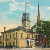 The old Washington County Courthouse. Source: antique postcard