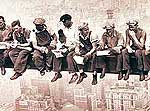 Lewis Hine's famous photograph of Mohawk Ironworkers in NYC.
