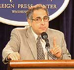 John Zogby speaking at the Foreign Press Center