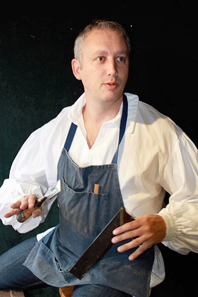 Ian Farthing, as Joseph, in <em>Jesus My Boy</em>. The show opens tonight in Prescott and continues next weekend in Chesterville and Ottawa, Ontario.   Photo: St. Lawrence Shakespeare Festival