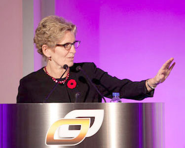 "Ontario premier Kathleen Wynne. Photo: <a href=""http://www.flickr.com/photos/30799612@N03/6964550182/"">Ontario Chamber of Commerce</a>, Creative Commons, some rights reserved"