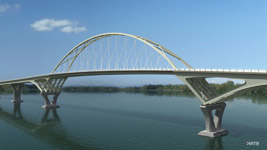 New Lake Champlain bridge is projected to open in Summer 2011.