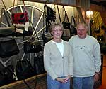 Donna and Tom Amoroso at their <i>Leather Artisan</i> shop in Childwold