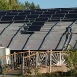 The solar panel array at the Wild Center (Photos:  Wild Center)