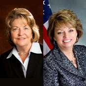 Republican State Sen. Betty Little (left), of Queensbury, and Patty Ritchie, Republican from St. Lawrence County, could see changes in their adjoining districts.