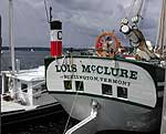 The <i>Lois McClure</i> docked at Burlington's Waterfront.