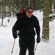 Brian Mann skiing in the Adirondacks (file photo)