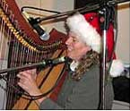 Martha Gallagher and Sue Grimm share Holiday music in the NCPR studio