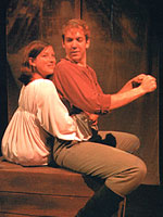 Jessica Greenburg and Mark Crawford in <i>Mary's Wedding</i>. Photo: Dan Pritchard