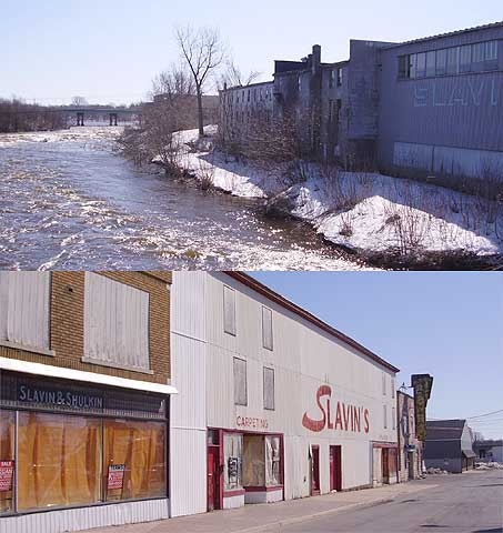 Massena backs up to its riverfront.  Leaders hope a dam can spark a revival.
