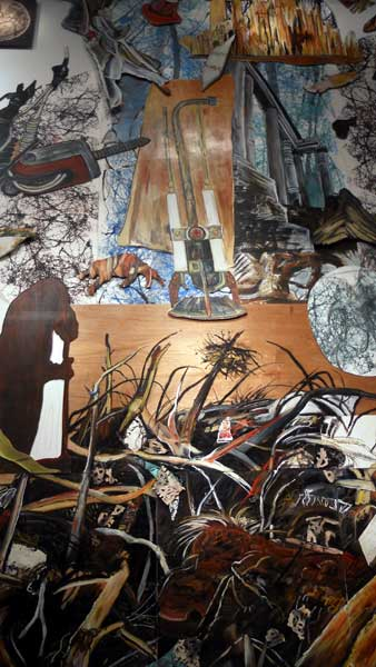 Just a portion of the massive <i>The Last Painting</i> at SUNY Potsdam's Gibson Gallery.