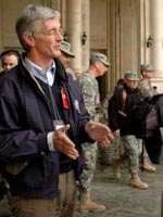 John McHugh on a recent Iraq trip (File photo)