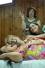 From left: Caroline Treadwell, Shami McCormick, Jennifer Marshall, standing - Paula Hoza