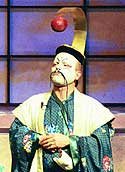 NCPR's Todd Moe as the Mikado (Dick Bitely photo)