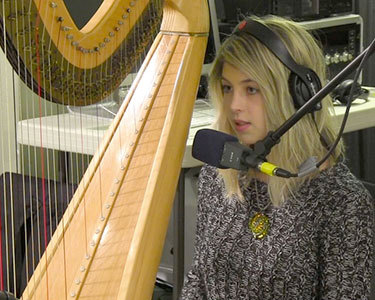 Mikaela Davis in the NCPR Studio. Photo: Zach Hirsch